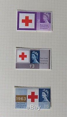 GB Commem Collection 1924-1965 inc PUC SW & Ivtd, SW £1, All phos + fab album