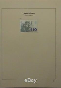 GB MNH definitive collection with high values FROM 1971 in album F. V. £250+