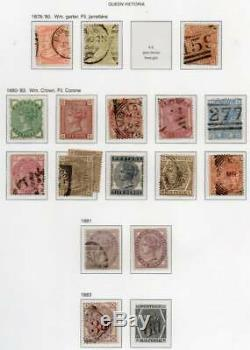 GB Valuable Collection in Davo Album, Many expensive items 1840-1970 Penny Black