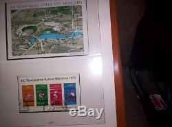 German Stamp Collection in Lindner Album Bund 1969-1979
