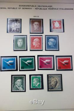 Germany & DDR Stamps Mostly NH Collection 1949-90 in 5 Albums