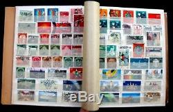 Germany Old Stamp Collection Lot of 789 MNH, MH & Used in Vintage Schaubek Album