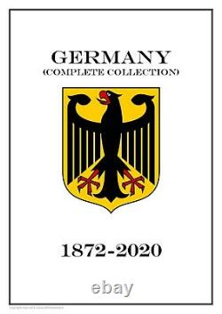 Germany complete collection (18 albums) 1872-2020 PDF STAMP ALBUM PAGES