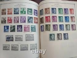 Gigantic worldwide stamp collection in perfect Scott international album. 1939+