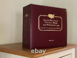 Golden 22KT Replicas of U. S. State Stamps, Complete Album Collection FDC 1982