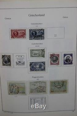 Greece Stamp Collection in KA-BE Album & 880 Stamps Used Some Unused -ST-096