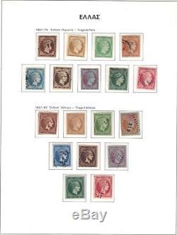 Greece Stamp collection 1861 in unhinged album