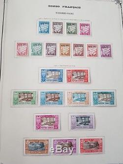 HIVER 2018 LOT 259-22 Collection timbres colonies françaises en 1 album Yvert