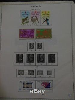 HONG KONG All Mint OG Hinged collection on album pages between years 1961-1976