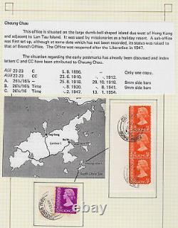 HONG KONG POSTMARKS Collection in a Senator springback album 15281