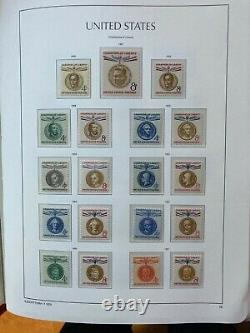 HUGE USA STAMP COLLECTION IN 4 De Luxe LIGHTHOUSE ALBUMS