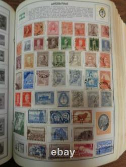 Harris Senior Statesman Masterwork 4 Volume Stamp Album Collection WW stamps