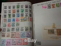 Harris Senior Statesman WW stamp Album Collection Beg-1967 with 1,500+ diff stamps