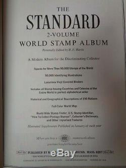 Harris Standard 2 Volume 1 mans Stamp Album Collection to 1970's withglassines etc