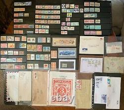 Huge China Stamps, Cover, & Post Card Collection! 2 Albums Shanghai Hong Kong +