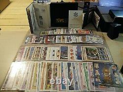 Huge Lot of International Collectors Society Princess Diana Albums, stamps +COAs