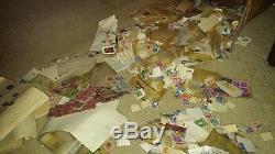 Huge Old US foreign Stamp Collection lot Albums +++! Estate Sale Find Must See