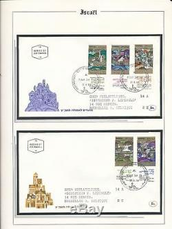 ISRAEL 1967/89 Four Lighthouse Albums FDC Covers Collection(Appx 600+)ALB763