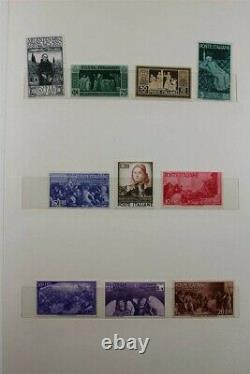 ITALY Minister Books Albums Premium Rare w. Parcel 1946-54 Stamp Collection
