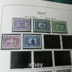 Iceland Collection in Lighthouse Album to 1978 CV $1030 with 370 stamps