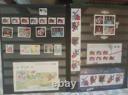 Incredible Canada Stamp Collection In Stockpage Album, Sports. History. Show Biz