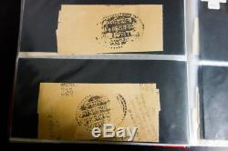 India Stamps Collection of 95+ Early Documents 1754 to 1934 in Album
