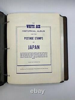 JAPAN White Ace Album 1955-1972, 98% populated with 614 MNH stamps + addnl pages