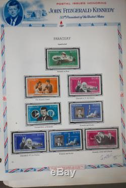 Kennedy JFK UAE & South American Stamps NH Collection Scarce in Album