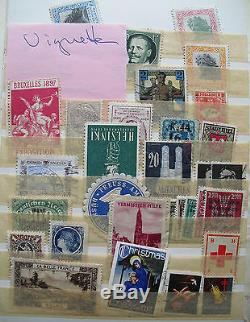 Kleiner Album voller Reklamemarken, Vignetten Poster Stamps diverese Marken