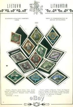 LITHUANIA COLLECTION 19181934 on Morkunas album pages, Scott $2,095.00