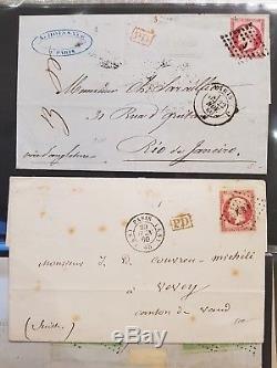 LOT #322-1 FRANCE collection lettres classiques ceres destinations en 2 albums