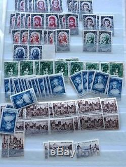 LOT #34 FRANCE collection & stock de timbres 6 albums dont Yvert DAVO cote