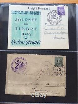 LOT #94 FRANCE collection timbres classiques Caisses PA FDC belle cote 6 albums