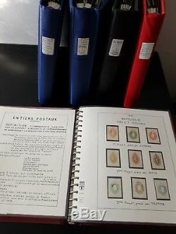 LOT ÉTOILE-98 FRANCE collection dentiers postaux dt RRR UPU type sage 5 albums