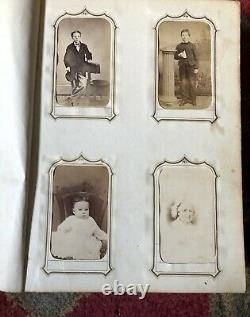 Large Chester County Pennsylvania Photo Album ID's Tax Stamps Quality Leather