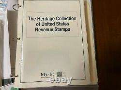 Large collection of 1940s-1950s United States Revenue stamps in album RARE