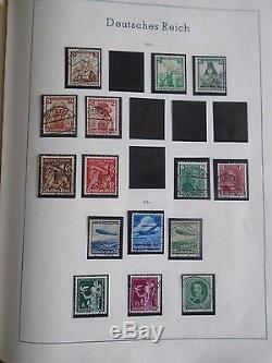 Leuchturm Album Collection Germany Deutschland Reich With Many Stamps Jtst