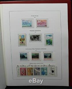 Lichtenstein Complete Fine Mint 1972 1995 Stamp Collection in Original Album