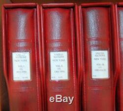 Lindner-7 Hingeless Albums W Binders W Un Collection