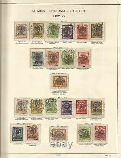 Litauen Lithuania collection on album pages 1918-1940-1990 U-MH +cinderellas