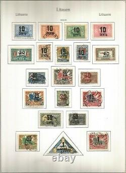Litauen Lithuania mostly used collection 28 KABE album pages few stamps missing