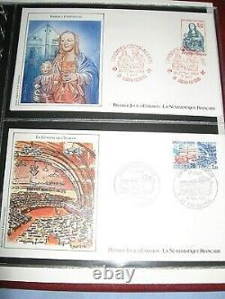 Lot De 4 Albums Enveloppes Premier Jour Timbres Deco & Collection
