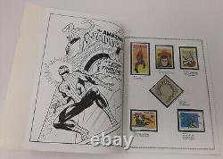 MARVEL SUPER HERO STAMP ALBUM 1976 Vintage Nearly Complete, Missing One Stamp