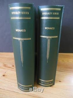 MONACO A Beautiful all Mint collection in 2 Scott Specialty albums. Cat $6,825