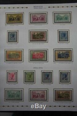 MONACO Premium MNH 1885-2016 Princesse 6x Albums Stamp Collection
