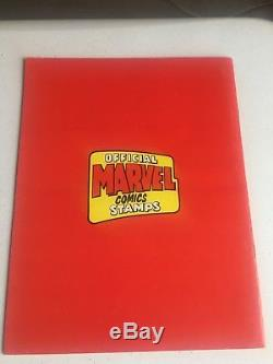 Marvel DC Super Hero Stamp Album (1976) w Stamp Envelopes Marvel mania HI GRADE