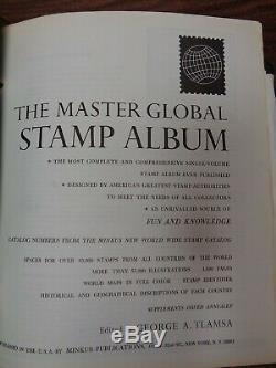 Minkus Global Stamp Album collection 5-Vol with22,000+ diff. Stamps Beg-1980 CLEAN
