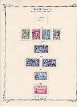 NO55 Newfoundland. Magnificent collection on Scott Illustrated album pages