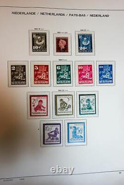 Netherlands Mint Stamp Collection 1940s-70s in Schaubek Album