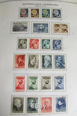 Netherlands Mint Used Stamp Collection in Minkus Album